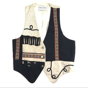 [Vintage] Western Vest with Fringe Size XL